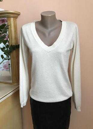 Фирменный кашемировый/шёлковый пуловер, кофта от globus essentials оригинал m