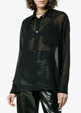 Прозрачная блуза рубашка