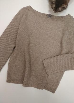 Идеальный бежевый свитер оверсайз ,шерсть ягненка от gap