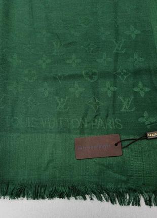 Louis vuitton шарф женский шерстяной зеленый