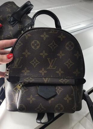 Кожаный рюкзак louis vuitton люкс качества