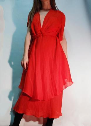 Крастное платье оверзайз