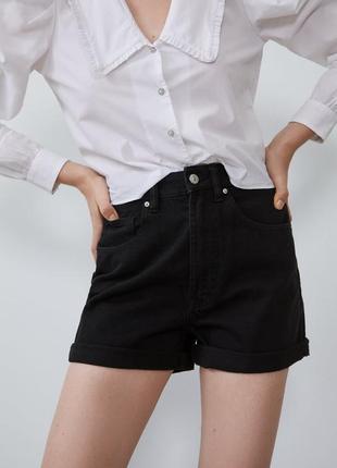 Джинсовые шорты mom fit zara