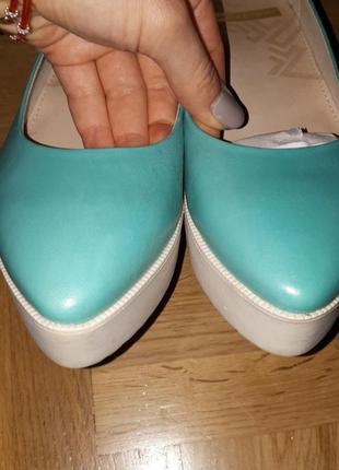 Бирюзовые туфли на платформе vagabond новые в коробке