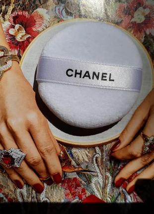 Chanel пуховка для пудры