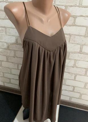 Модная маечка  цвет кофе с молоком  бренд lloren  размер м