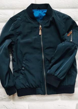 Nutmeg стильная  деми  куртка-бомбер на мальчика 7-8 лет