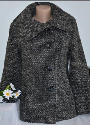 Брендовое шерстяное демисезонное пальто полупальто с карманами bhs вьетнам