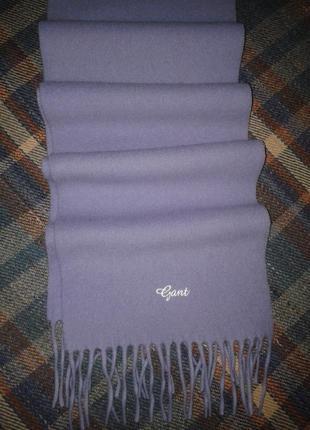 Шарф шерстяной gant, мягкий, с кисточками