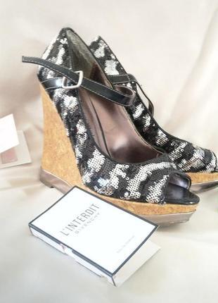 Туфли женские с паетками