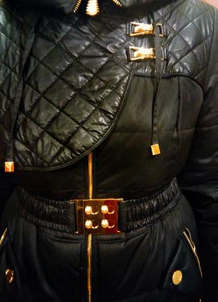 Красивая зимняя куртка/плащ, фирмы riches