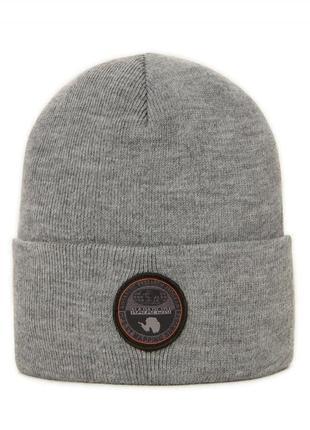 Оригинальная шапка napapijri fulton med grey mel