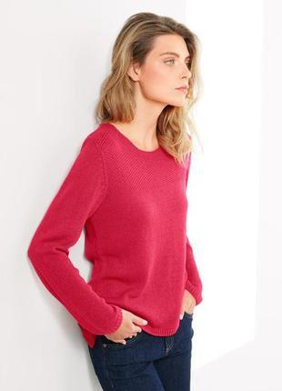 Красный мягусенький свитер тсм чибо германия, 40/42 евро2 фото