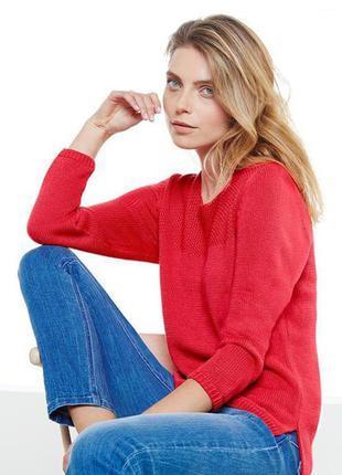 Красный мягусенький свитер тсм чибо германия, 40/42 евро