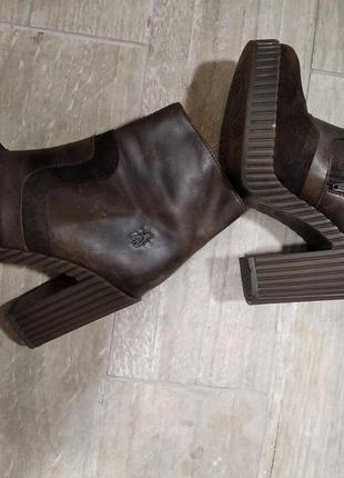 Ботинки (кожа + замша)