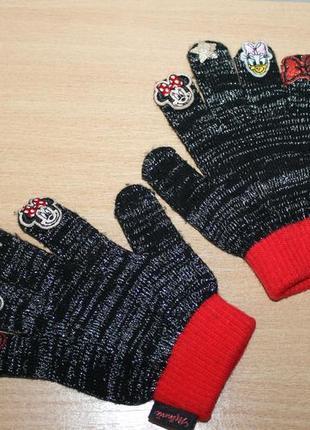 Перчатки с минни маус disney
