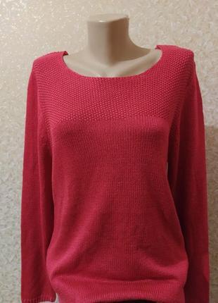 Красный мягусенький свитер тсм чибо германия, 40/42 евро5 фото