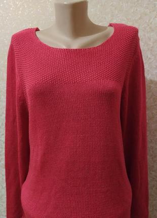 Красный мягусенький свитер тсм чибо германия, 40/42 евро6 фото