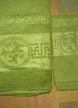 Набор полотенец банное +лицевое, микрофибра
