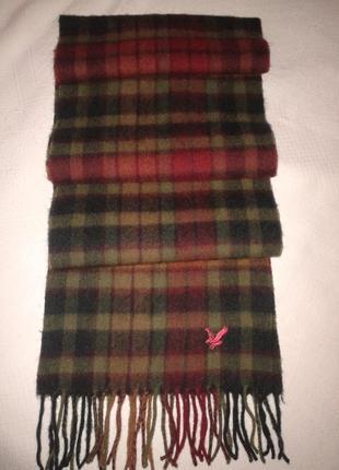 Шерстяной шарф в клетку lyle&scott