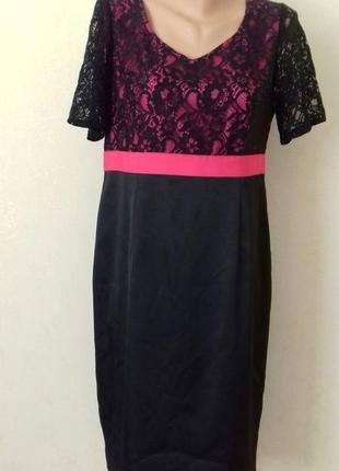 Красивое элегантное платье с кружевным верхом berkertex
