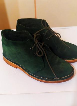 Замшевый ботинки-дезерты на меху