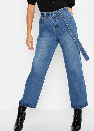 Трендовые плотные джинсы мом высокая посадка