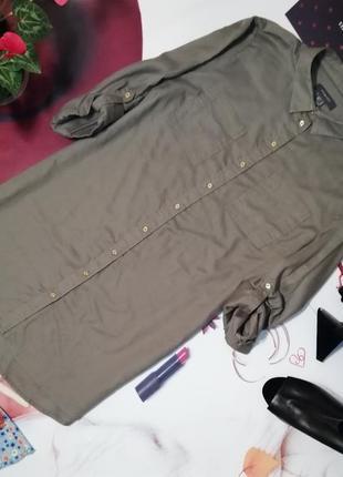 Платье-рубашка primark, 100% хлопок, размер 14/42