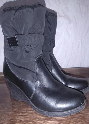 Сапоги зимние кожаные распродажа