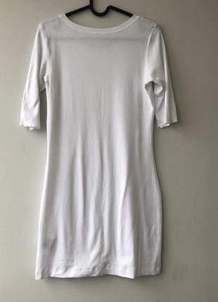 Платье белое в рубчик marc cain