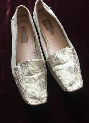 Мужские туфли/мокасины из натуральной замши