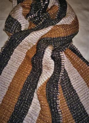 Шикарный шерстяной палантин шарф cos