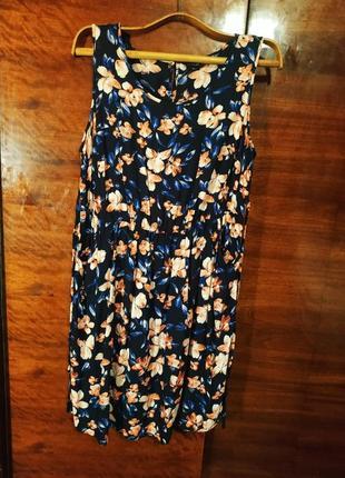 Блуза блузка туника очень большая широкая батал вискозная яркая красочная принт цветы