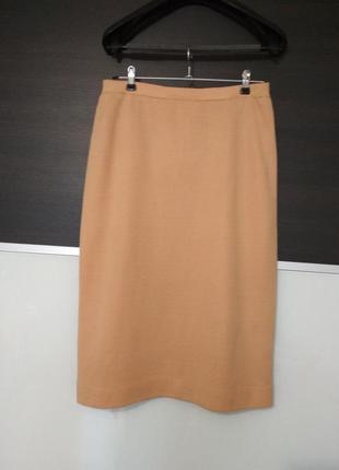 Теплая юбка миди