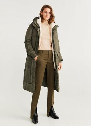 Зимняя непромокаемая утепленная куртка / пальто со съемной жилеткой на мехе s, m, l, mango