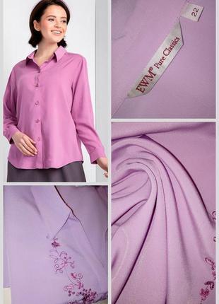🔴🔴изумительная классическая рубашка/блуза с вышивкой🔴🔴