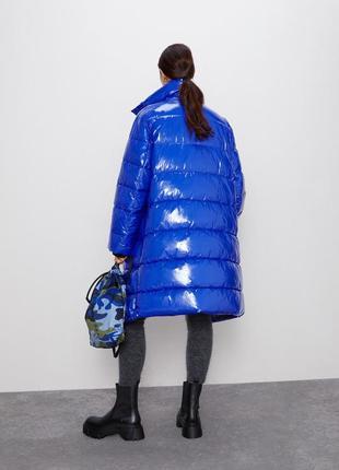 Стеганное пальто пуффер лимитированная коллекция zara оригинал оверсайз