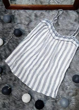 Топ блуза кофточка майка с вышивкой из натуральной вискозы dorothy perkins