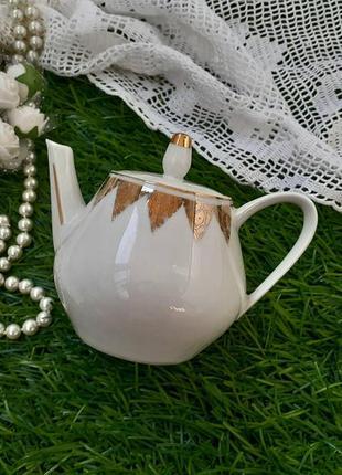 Чайник, 8 см, piesau porzellan фарфор из гдр, винтаж, 50-60-е заварной