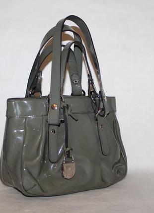 Furla оригинал!стильная кожаная сумочка малышка кроссбоди 100% натуральная лаковая кожа
