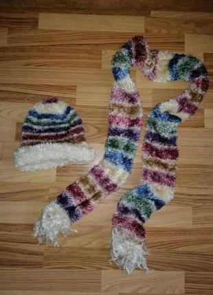 Комплект шапка+шарф!
