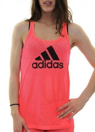 Яркая спортивная майка сетка adidas
