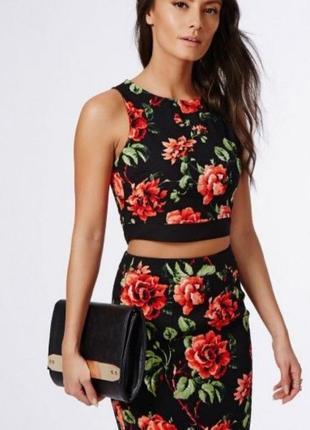 Изумительно красивая 🥰 юбка карандаш с цветочным принтом