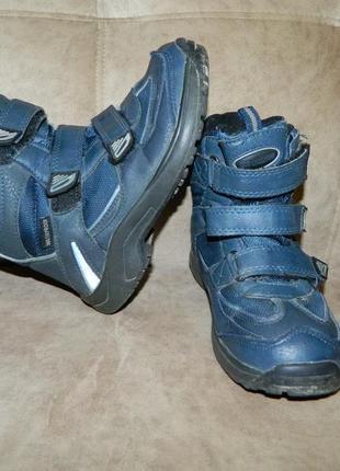 Термосапоги ботинки детские зимние на мальчика тёмно-синие crossroad waterprof