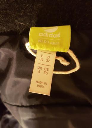 Теплая куртка с капюшоном adidas xs шерсть 70%5