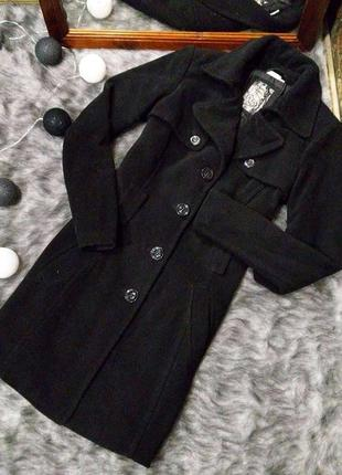 Пальто тренчкот базового черного цвета