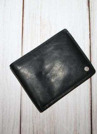 Вместительный кожаный кошелек rallye international 100% натуральная кожа