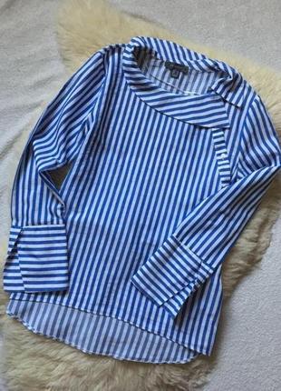 Эффектная блузка рубашка с поясом  primark