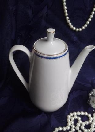 Кофейник colditz (made in german), германия, 40-50-е, фарфор, чайник
