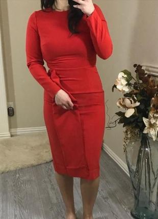 Элегантное платье миди h&m с оборками